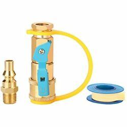 Wadeo 1/4 Inch Rv Propane Quick Connect Fittings, Adapter For Hose, Natural Gas
