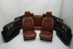 2009-2010 Jaguar Xf Supercharged Front And Rear Seats With Door Panels Leather