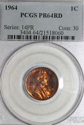 1964-p Memorial Reverse Lincoln Toned Cent Coin Pcgs Graded Pr64rd 21518060