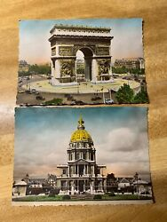 12 Different 1940's Paris And Liverpool Post Cards From World War 2 Excellent