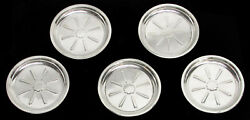 Vintage And Co 5 Sterling Silver 3 1/2 Coasters