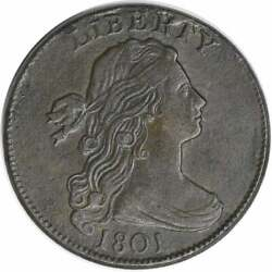 1801 Large Cent Ef Uncertified