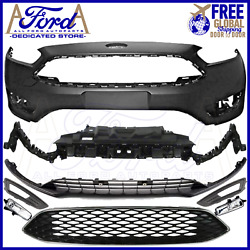 Ford Focus 2015-2018 Front Bumper Cover Kit Oe Primed With Fog Lights F1ez-17757