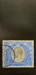 K.u.t. 41 Exceptional Postal Used Andpound5 Value George V Extremely Rare A 15