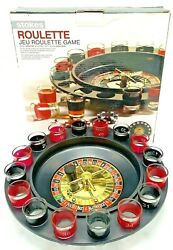 Stokes Roulette W/ Glass Shooters 4 Player Roulette Shot Drinking Game