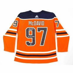Connor Mcdavid Signed Autograph Authentic Jersey Oilers Orange Inscribed /97 Uda