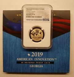 2019-s Georgia American Innovation Dollar Ngc Reverse Pf 70 - First Release