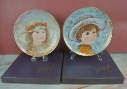 Edna Hibel Collector Plates Todd And Wendy A Tribute To All Children