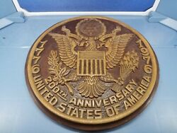 Vintage United States Of America Wooden Hand Crafted 200th Anniversary Plaque