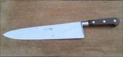 Finest Vintage Sabatier Thiers-issard 13.25 Carbon Steel Chef Knife W/rosewood