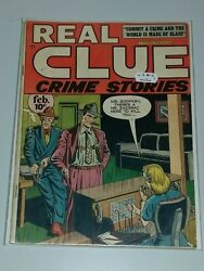 Real Clue Crime Stories 12 Vg/fn 5.0 Vol 2 Hillman February 1948