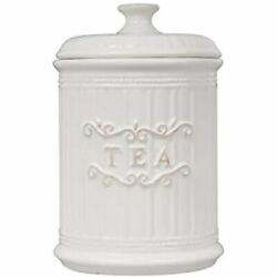 Porcelain Tea Canister Aittight, Bag Holder Ceramic Jar Container With Lid For