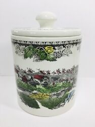 Johnson Brothers Friendly Village Medium Canister With Lid Made In England