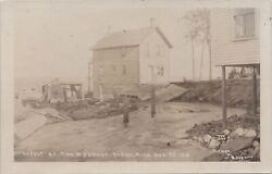 Beebe Torch Lake Alden Mi Rppc Washout Disaster At The Old Mill Aug. 25 1910
