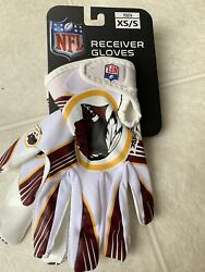 Washington Redskins Official Nfl Receiving Gloves - Youth Xs/s - Collectors Item
