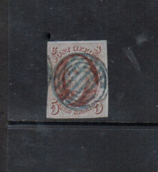 Usa 1d Very Fine Used With Rare Canadian Target Cancel With Certificate