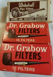 Vintage Dr.grabow And Whitehall Cigar Filter Lot In Original Boxes
