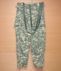 Usgi Army Acu Camo Soft Shell Cold Weather Ecwcs L5 Pants Trousers Large Regular