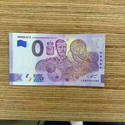 0 Euro Souvenir Banknote Finland Serial Number Lebh 000888
