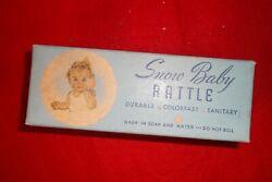 Box New Old Store Stock Snow Baby Rattle Sanitoy
