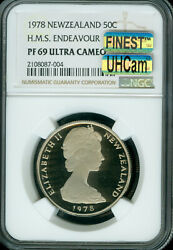 1978 New Zealand 50 Cents Ngc Pf69 Ucam Mac Ultra Heavy Cam And Finest Spotless