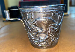 Rare Ilias Lalaounis Sterling Silver Greek Minoan Style Cup Signed Lg Size 126g