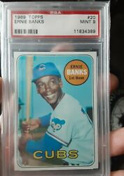 1969 Ernie Banks 20 Psa9. Hot