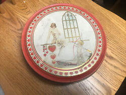 1920's Canco Valentines Day Candy Tin Cupid Flapper Hearts Art Deco