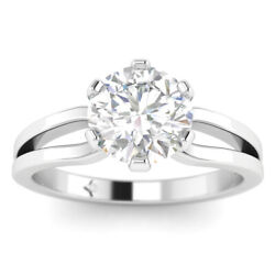 0.73ct D-si1 Diamond Round Engagement Ring 950 Platinum Any Size