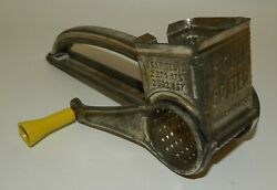 Vintage 1950and039s Hand Held French Mouli Rotary Grater Grinder - Kitchen Tool