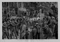 Childs Funeral In The Italian Quarter Of New York City Brass Band Hearse Horses