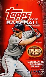 2012 Topps Update Series Baseball Hobby Box From Sealed Case Rc Harper And More