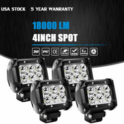 4x Spreader Led Deck/marine Waterproof 6000k Light Boat Spot Lamp Work 12v 24v