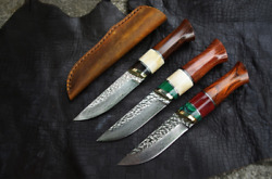 Japanese Vg10 Damascus Handmade Hunting Outdoor Tactical Knife Free Shipping