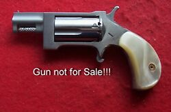 Kirinite Imt. Antique White Pearl Grips For North American Arms .22 Magnum