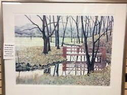 Mike Pease Red Bridge Signed Numbered Lithograph Art Print Make Offer 88/150