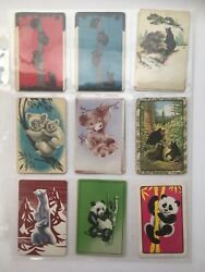 16 Vintage Bears Animal Lot Single Swap Playing Trading Cards 1940and039s 1950and039s