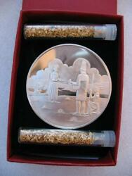 1-oz Stunning Native American Tribal Indian Coin Sterling Silver.925 + Gold