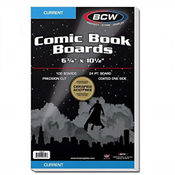 Bcw Current Comic Book Backing Boards 500 Count, For Comic Storage