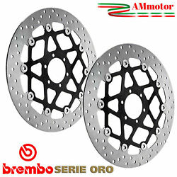 Discs Brembo Triumph Sprint 1050 St 2010 Brake Floating Pair Front Motorcycle