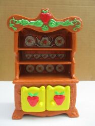Vintage Strawberry Shortcake Kitchen/dining Room Hutch American Greetings 1983