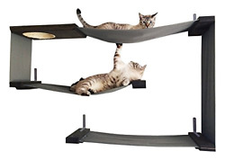 Catastrophicreations Fabric Cat Maze Multiple-level Hammock Lounger Wall-mounted