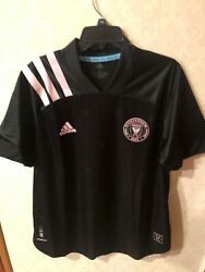 New Adidas Dc United Mls Leidos Soccer Black/pink Jersey Size Xl Mens 130.00