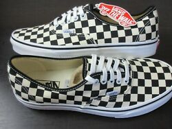 Golden Coast Authentic Mens Checkerboard Canvas Skate Shoes Black White Nwt