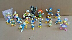 22 Disney Donald Duck Daisy Scrooge Figures Lot Bullyland Stain Glass Ornament