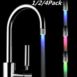 Led Water Stream Faucet Light 7 Colors Changing Glow Shower Stream Tap Bathroom