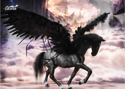 Lucifer Lxf1905b The Black Horse With Feathered Wings 1/6