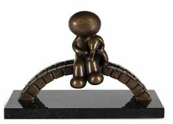 Watching The World Go By By Doug Hyde. Boxed New With Coa. Bronze. In Stock,