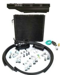 Gearhead Slimline Air Conditioning Ac Heat Defrost Kit Black Louvers W/ Fittings