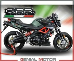 2 Exhaust Mufflers Gpr Gpe Ann.poppy Approved Aprilia Shiver 750 Gt 2007 2016